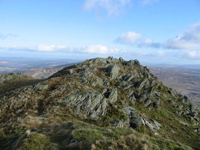 Summit rocks, Allt Fawr.