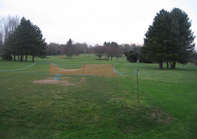 Winter repairs on the Par 3 golf club