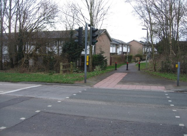 Pedestrian crossing on Worting Road