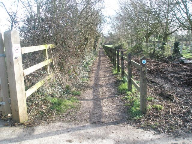 Long distance footpath at Warblington