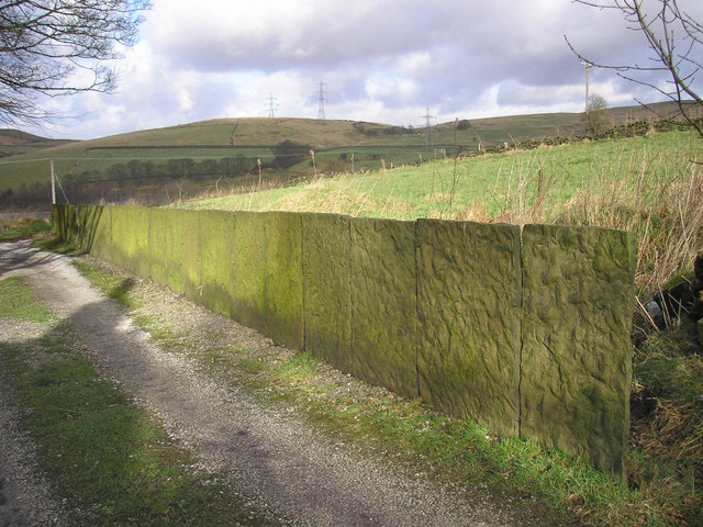 Stone flag wall