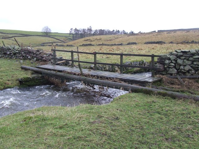 Wooden Footbridge over Catrigg Beck