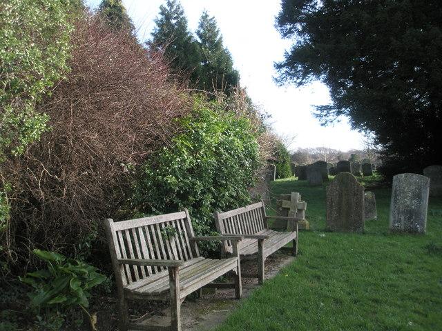 Seats in Warblington Churchyard