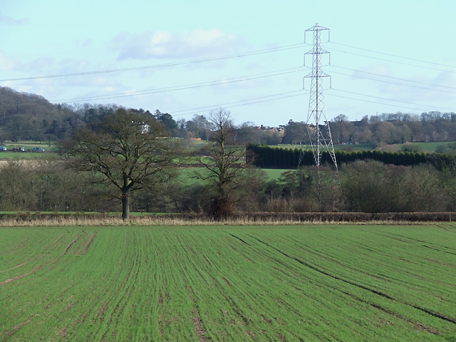 Across Smestow Valley near Greensforge, Staffordshire