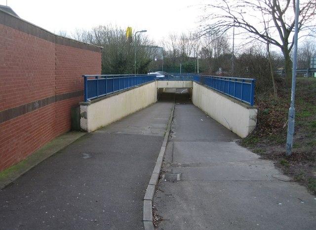 Footpath under Churchill Way West