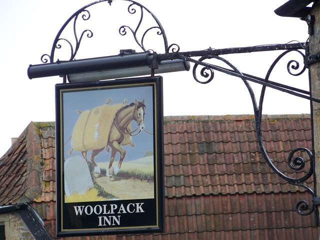 Sign for the Woolpack, Beckington