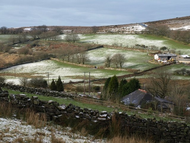 Patchy snow at Merrivale