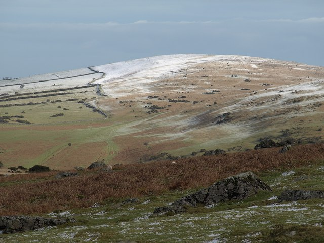 Longstone Hill and Rowtor from near Sourton Tors
