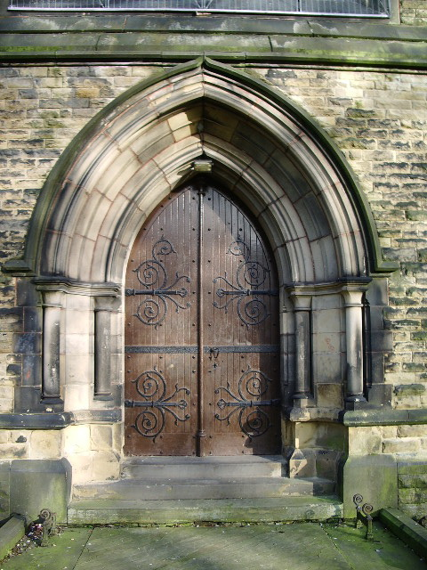 Unitarian Church, Monton, Doorway