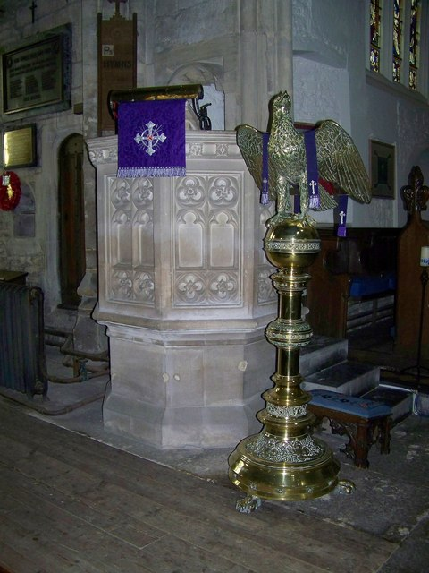 Pulpit and lectern, St George's Church, Beckington