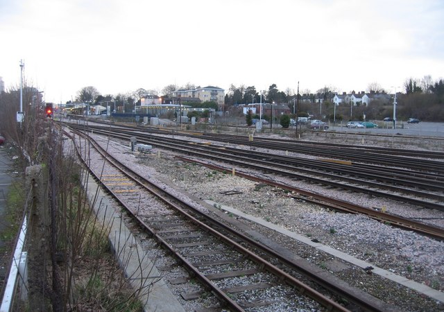 Approaching Basingstoke station from London