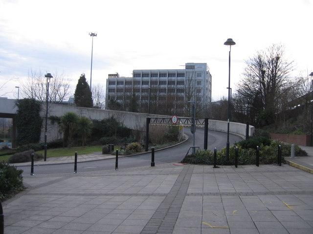 Ramp to the car park above Sainsburys