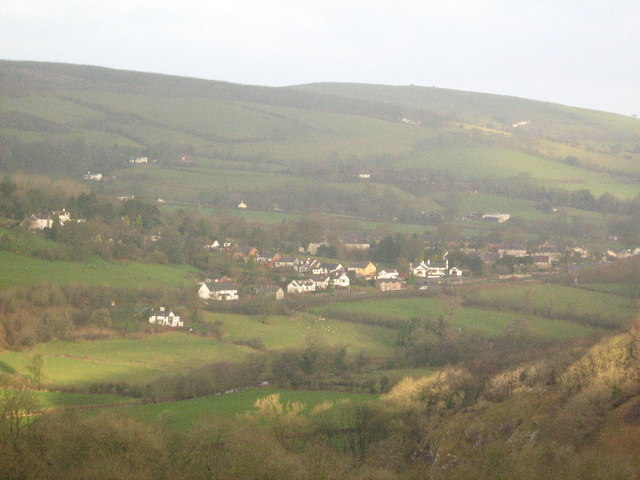 Llanferres from the slopes of Bryn Alyn