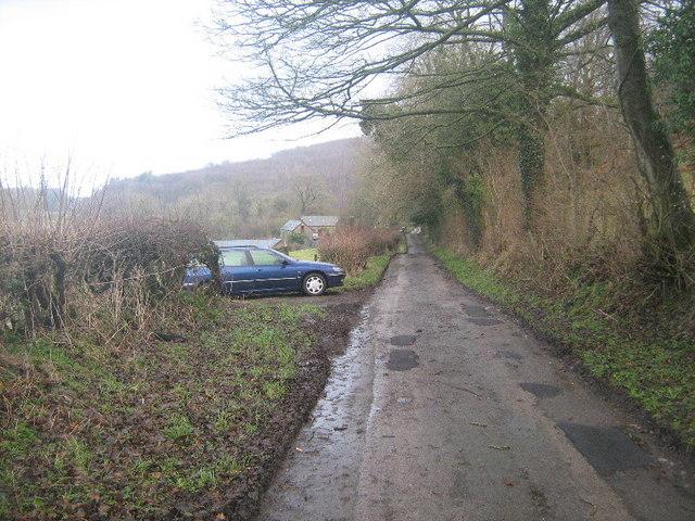 Lane near Bryn Difyr