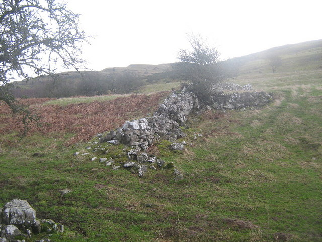 Ancient wall on Bryn Alyn