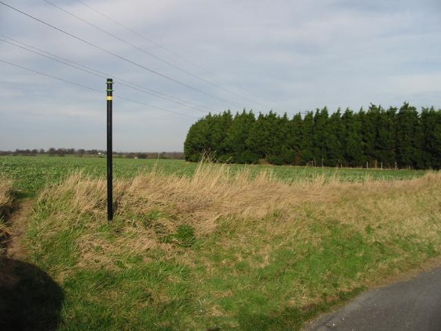 Footpath across the fields from Marley Lane