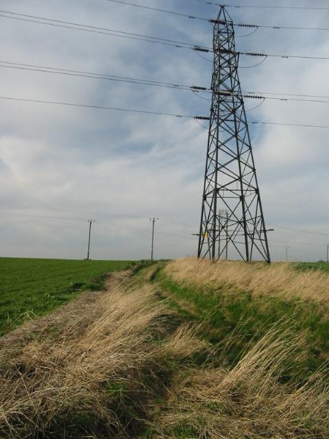 Farm track across the fields on Marley Lane