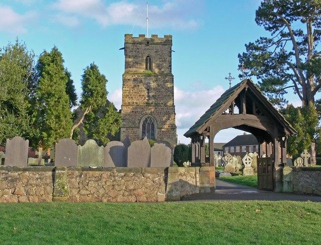 All Saints Church and lych gate, Thurlaston