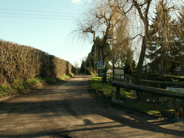 A private road called Greenacre Lane