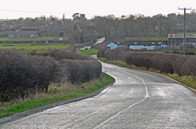 Enderby Road towards Thurlaston