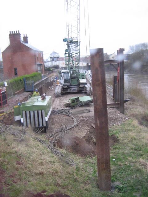 Progress at riverbank