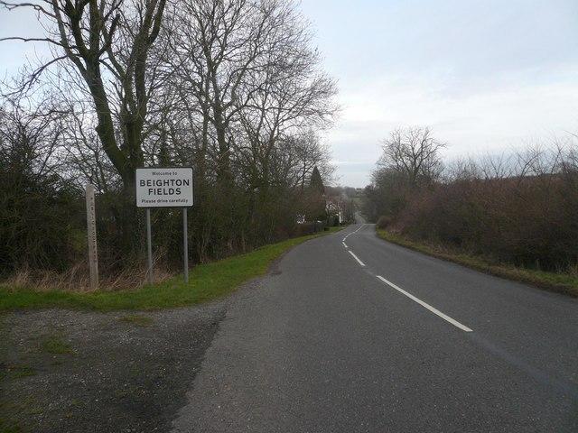 Entering Beighton Fields