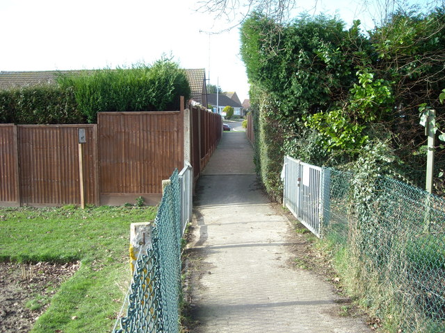 Footpath, Summerhill, Bexhill-on-Sea