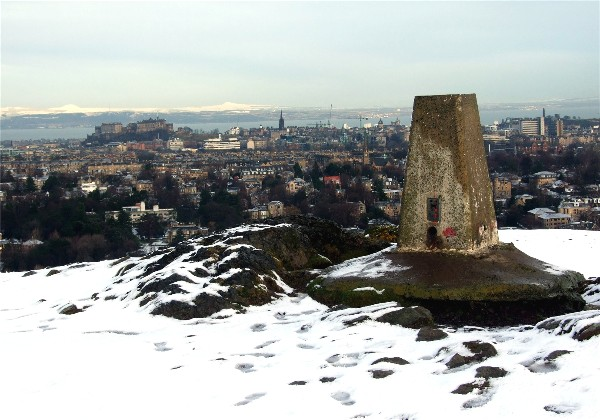 Trig point Blackford Hill