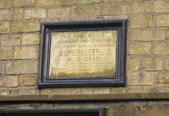 Plaque on Ogden Endowed School