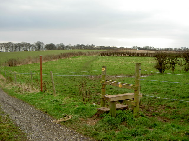 Stile and Footpath to Thornton Hough