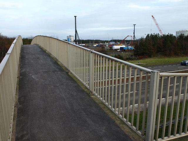 Footbridge, Shewalton