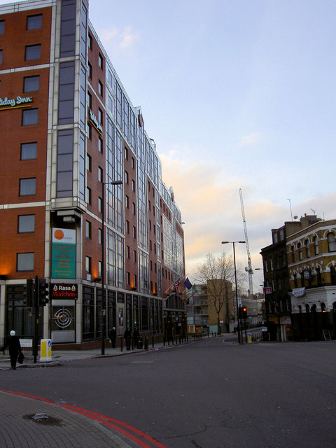The Holiday Inn at the junction of Calthorpe Street and Farringdon Road