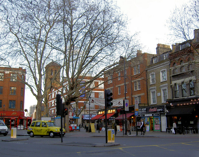 Exmouth Market from Farringdon Road