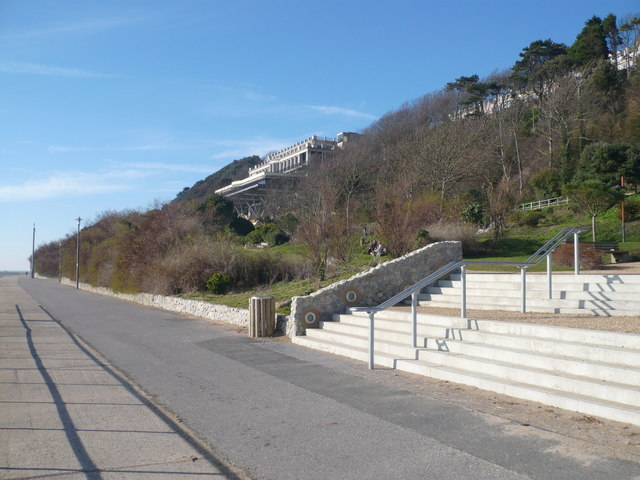 Leas Cliff Hall from Lower Sandgate Road