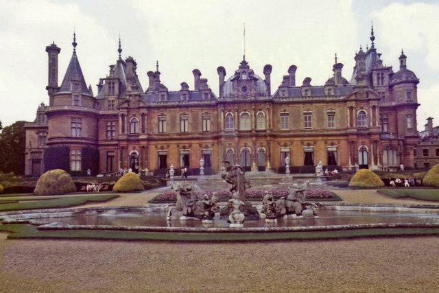 Waddesdon Manor with fountain, Buckinghamshire