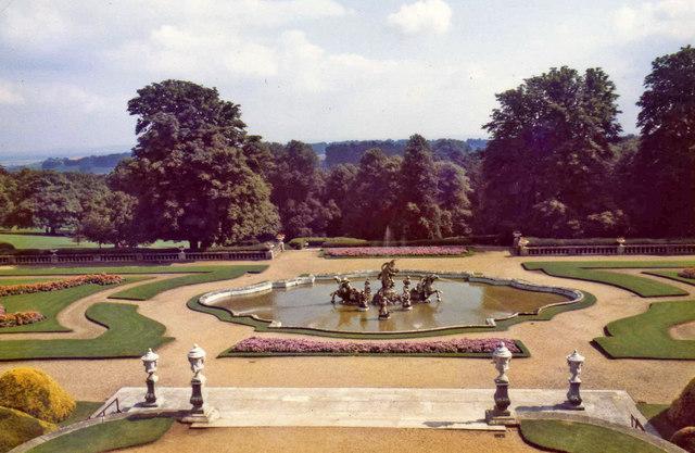 Waddesdon Manor formal garden, Buckinghamshire
