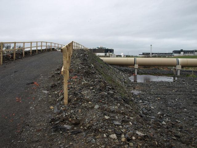 Bridge over pipe line, Shewalton