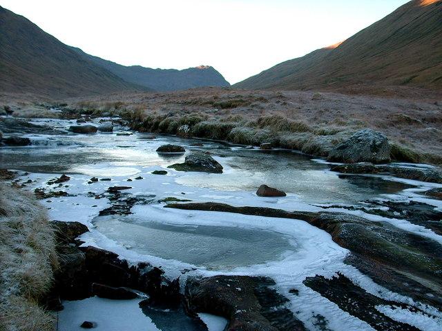 Ice on the Allt Gleann Gniomhaidh