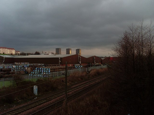 Distillery and high flats, Drumchapel