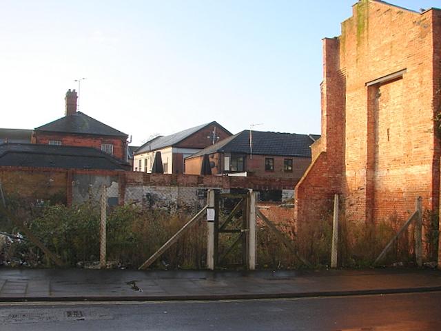 Derelict site in Norfolk Street