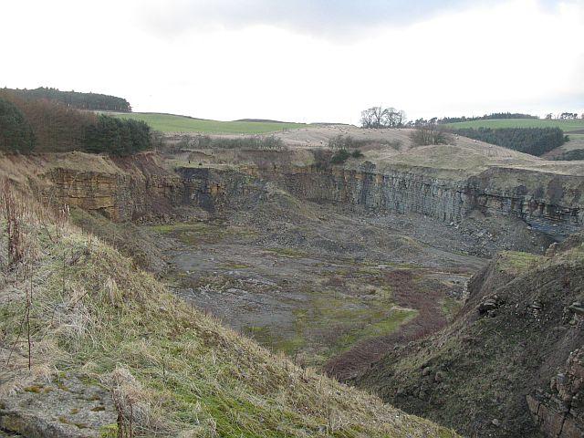 Limestone quarry, Middleton