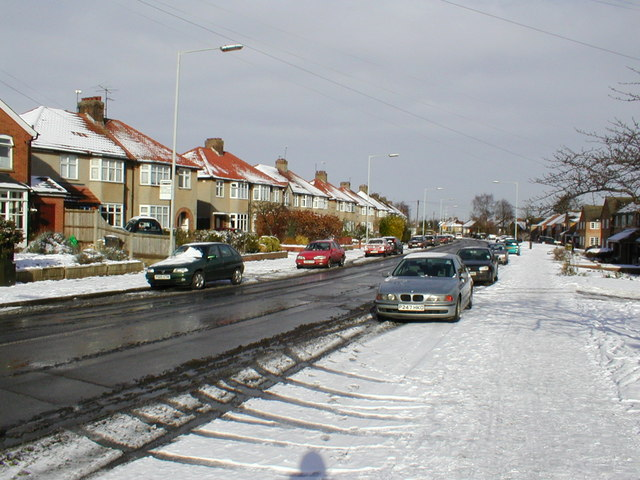 Old Hale Way Looking towards Ickleford. Jan 2003