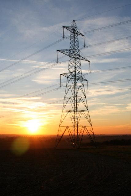 Pylon at sunset