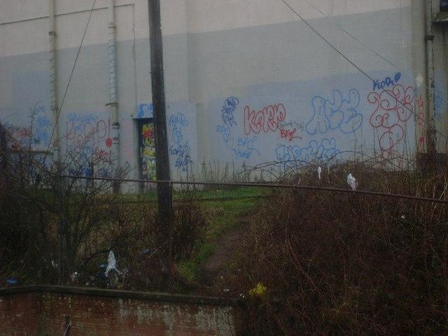 Graffiti on La Scala cinema building
