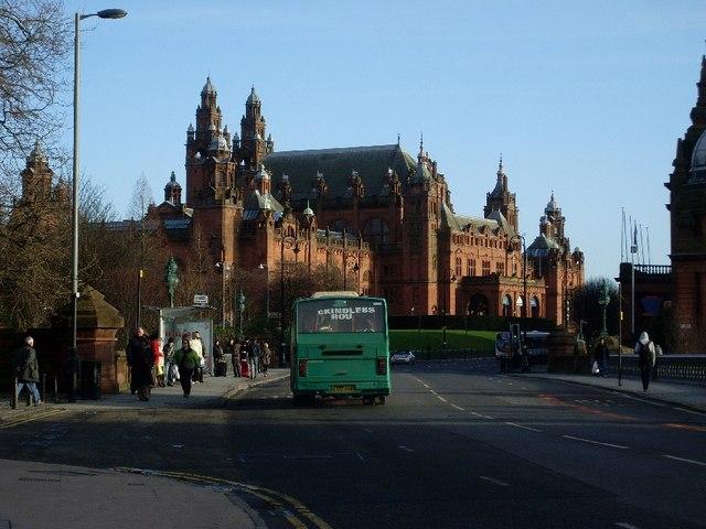 Kelvingrove Museum and Art Gallery from Dumbarton Road