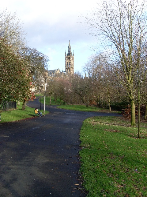 Kelvingrove Park and Glasgow University