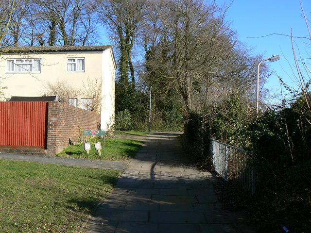 Top end of Hillcrest Walk