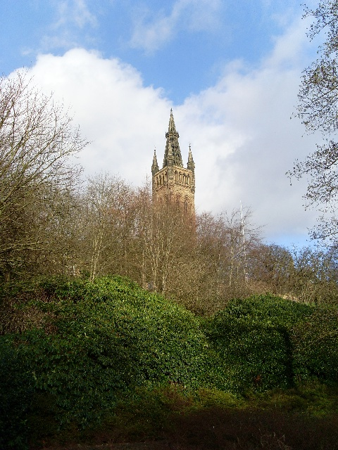 Tower of Glasgow University Old Building
