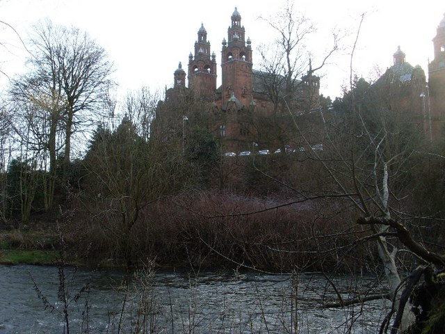 Looking to Kelvingrove Museum and Art Gallery from across the River Kelvin