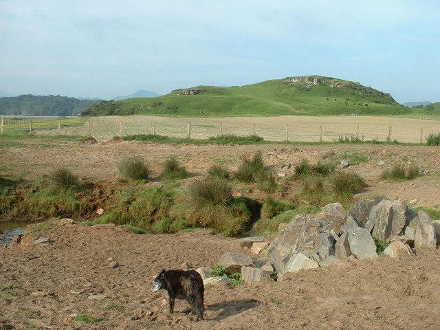 The boundary twixt shore and farmland